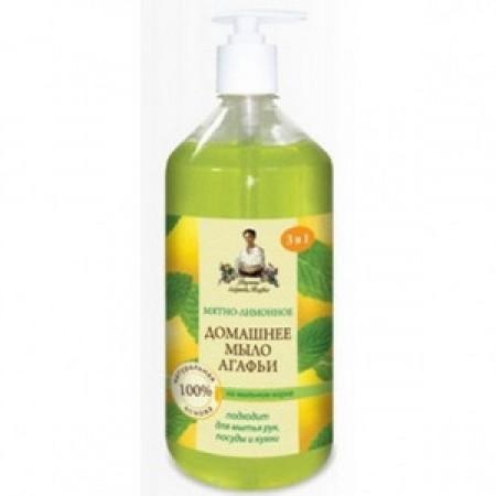 Mydło domowe miętowo-cytrynowe 1l