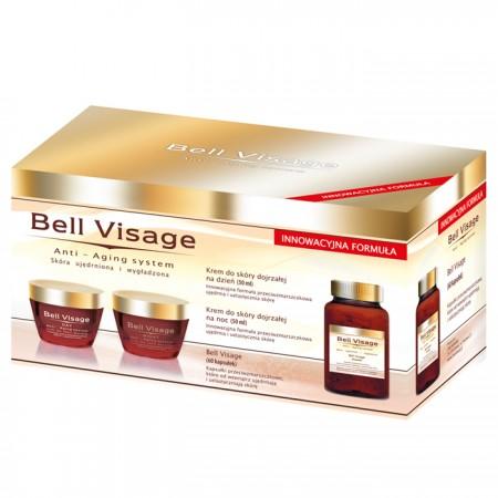 Bell Visage anti-age system odmładzający - krem na dzień 50 ml + krem na noc 50 ml + kapsułki 60 kaps