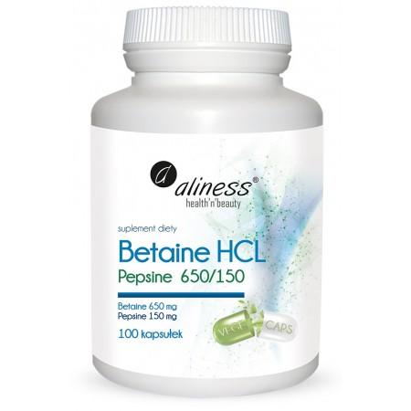 Betaina HCL Pepsyna 650/150 mg 100 kaps.