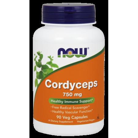 Cordyceps Now Foods 750 mg 90 kaps.