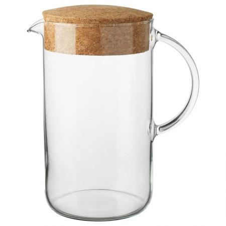 Dzbanek szklany z korkiem 0,6 l