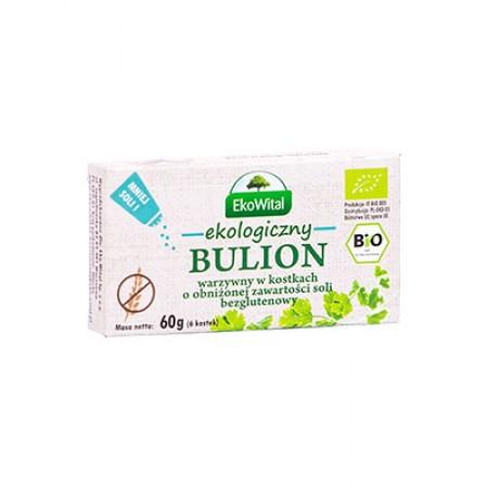 Bulion warzywny bezglutenowy w kostkach o obniżonej zawartości soli BIO 60 g
