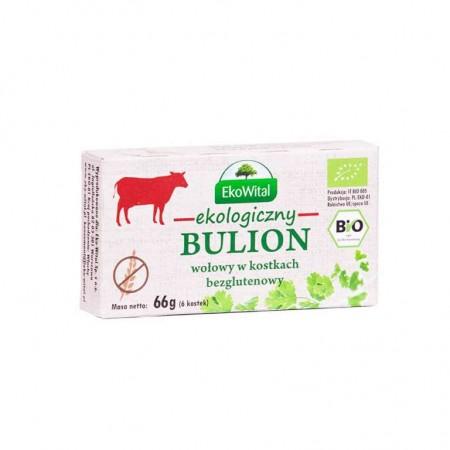 Bulion wołowy bezglutenowy w kostkach o obniżonej zawartości soli BIO 60 g