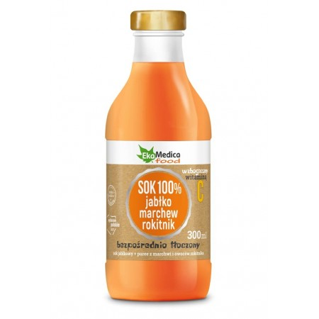 SOK 100% jabłko marchew rokitnik 300ml