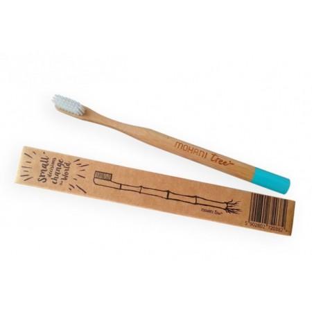 Bambusowa szczoteczka do zębów miękka turkusowa