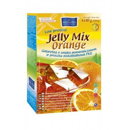 Galaretka bezglutenowa o smaku pomarańczowym w proszku niskobiałkowa 320 g